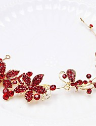 China Red Rhinestones Party Headpieces with Crystals