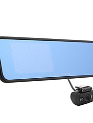 Car Mirror DVR 4.3Inch 140 Degree Dual Camere Wide Angle Night Vision with HDMI G-sensor Montion Detection