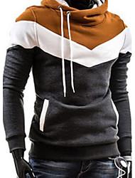 mildness Men's Stand Sweats & Hoodies , Cotton Blend Long Sleeve Casual Pocket Winter