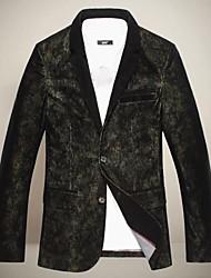 cuello solapa chun zheng hombres todo a juego overcoat_l1043 color sólido