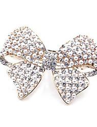1Pc Elegant Beautiful Bowknot Imitation Pearl Hair Clip