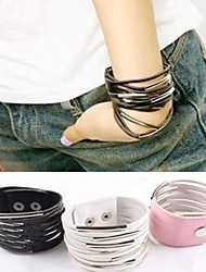 Exaggerated Personality Exquisite  Multi-layer Leather Bracelet Christmas Gifts