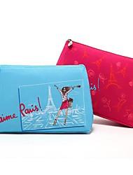 Cartoon Colorful Paris Eiffel Tower Clutch Cosmetic Bag Makeup Storage Bag(Assorted Color)