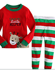 Boy's Cotton Clothing Set,Winter Striped