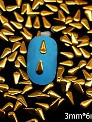 100pcs 3 millimetri * rivetto chiodo decorazione di arte oro goccia metallico da 6 mm
