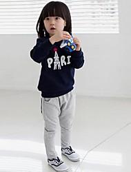 lazer em torno do pescoço de manga comprida conjunto de roupas infantis