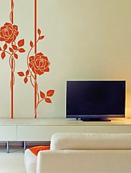 Wall Stickers Wall Decals, Modern Flower Vine PVC Wall Stickers.