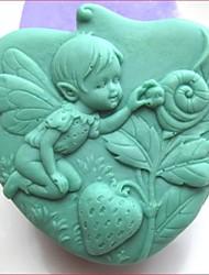fraises angle d'escargots shaoed outils silicone gâteau de fondant au chocolat moule à cake de décoration, l10.5cm * * w10.2cm h4.2cm