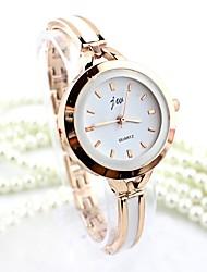 Женские Нарядные часы Модные часы Часы-браслет Имитация Алмазный Кварцевый сплав Группа Кольцеобразный Серебристый металл Золотистый