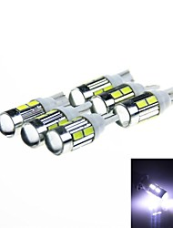 T10 5W 450lm 10-SMD 5630 LED White  Light Car Clearance / Signal Lamps (DC 12V / 6PCS)