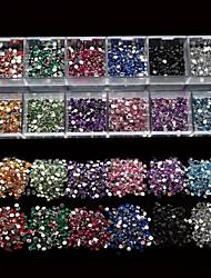 12 styles mélanger taiwan acrylique bricolage ongles vernis décoration d'art