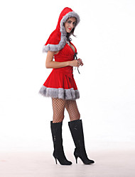 moda sexy rojo ropa set navidad de las mujeres de rendimiento (incluyendo el sombrero&superior&falda)