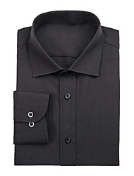 Black Cotton Solid Shirt