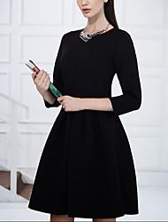 mode européenne col rond robe de Yushu femmes