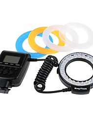 RF550 48pcs Macro LED Ring Flash Light with Ring adapters for Sony A900 A560 DSLR
