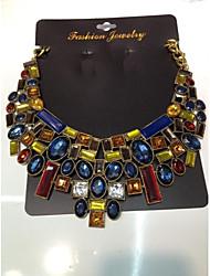 Presente Colar colares de flores do vintage&pingentes de cristal declaração gargantilha colar