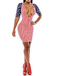 moda sexy vestido novo de impressão quente das mulheres