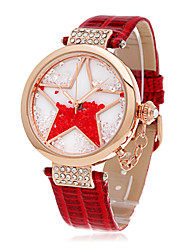 Time100 Women Fashion Starry Dial Genuine leather Strap Diamond Bracelet Quartz Watch