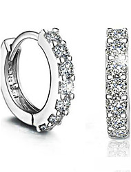 Love Story single row diamond earring studs
