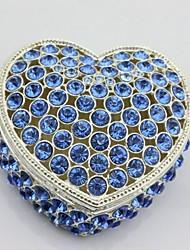Kristall Herzform Schmuck-Box