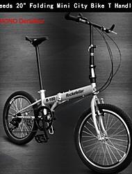 """7 velocità 20 """"pieghevole mini city bike t shimono rc ™ manubrio bicicleta bicicletta bici pieghevole 2 ruote di bicicletta"""