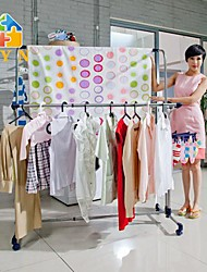 BYN Stainless Steel Movable Collapsible Clothing Rack,(115-210)*59*(117-180)cm