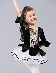 Ballet Dance Dancewear Kids'  Chiffon/Spandex Ballet Dance Dress Kids Dance Costumes