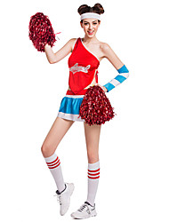 Cheerleader Costumes Performance Women's Sexy Nylon Dance Outfit-Including Hand Flowers And Socks