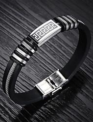 mode titanium stalen ring silicagel mannen armband