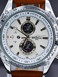 Herrenmode casual Lederband Quarz-Armbanduhr 30 m wasserdicht Sub-Zifferblatt für deco Militäruhren (farblich sortiert)