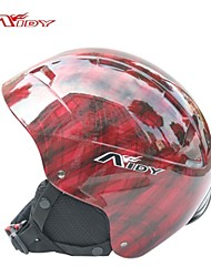 aidy adultos rejilla impreso ciclismo esquí patinaje casco protector bji-206