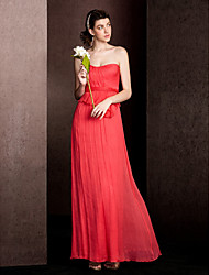 Floor-length Silk Bridesmaid Dress - As Picture Sheath/Column Sweetheart