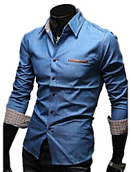 Fashion Casual  Jeans Long Sleeve Shirt