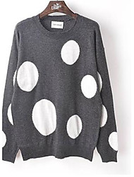 Peace Dove Women's Round Neck Long Sleeve Loose Circle Sweater