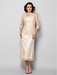 Women's Wrap Coats/Jackets 3/4-Length Sleeve Lace Champagne Wedding / Party/Evening V-neck  Lace Open Front