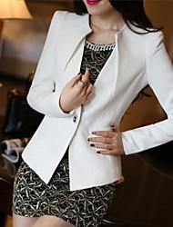 femmes sans mode de loisirs col pur costume en queue d'aronde couleur de la couture femme sans le costume de dame boucle
