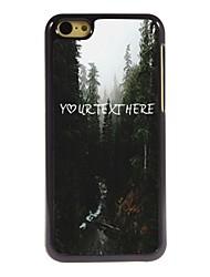 personalizzato cassa del telefono - fiume e il design albero cassa del metallo per il iphone 5c