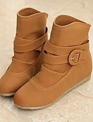 botas de los zapatos de moda de las mujeres cuña botines talón más colores disponibles
