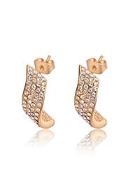 mode roxi véritable crystalear autrichien des femmes de boucles d'oreille de riz blanc chute de zircon (1 paire)