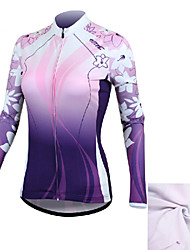 SANTIC Bike/Cycling Jersey / Jacket / Tops Women's Long SleeveWaterproof / Breathable / Front Zipper / Anatomic Design / Wearable /