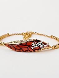 Small Gecko Alloy with Inlaid Austrian Crystal Bracelet