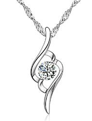 Aimei женщин 925 мода кристалл вырезать ожерелье