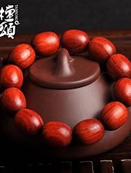 tanson®Oil is full of high density along the grain material lobular Rosewood Fozhu hand on the old jujube Bead Bracelet