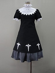 Inspired by Cosplay Cosplay Anime Cosplay Costumes Cosplay Suits Color Block Black Short Sleeve Dress / More Accessories