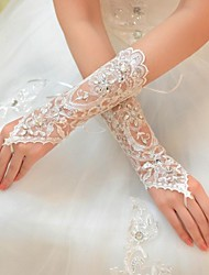 Elbow Length Glove - Tulle Bridal Gloves