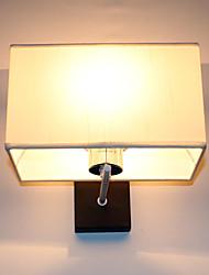 Wall Light, 1 Luce, Moderno Pittura Cubic tessuto metallico