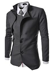 moda chaqueta de negocios corte irregular de los hombres