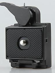 asiento 2en1&placa de liberación rápida para cámara réflex digital trípode linterna cabeza monopie montaje 1/4 3/8 tornillo
