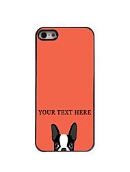 caso de telefone personalizado - cão caso design de metal para iPhone 5 / 5s