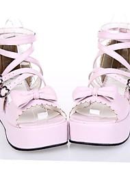 pu cuero zapatos de plataforma de 5 cm dulce lolita